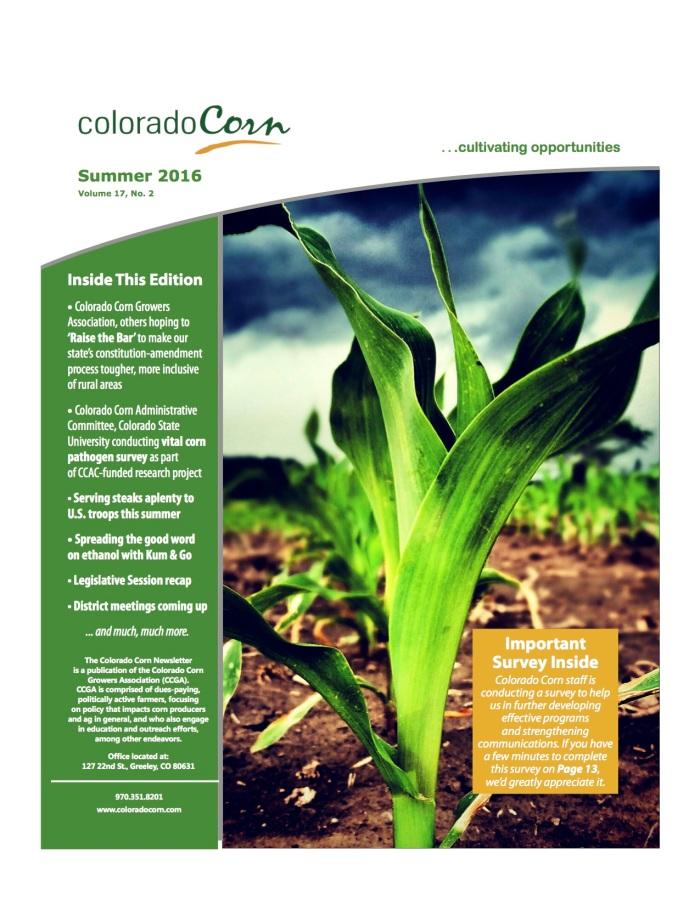 Colorado Corn Summer 2016 Newsletter.web