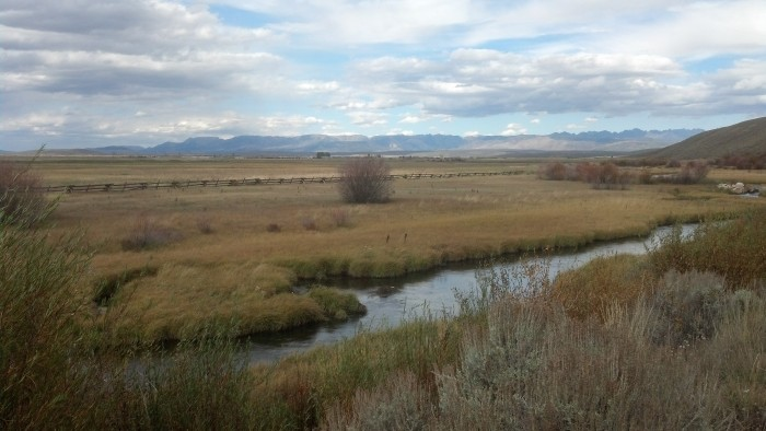 Spring sampling location along Little Sandy River in southern Wyoming. Photo credit: Chris Shope, USGSPublic domain
