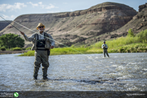 Fly fishing on the Gunnison River outside of Delta, Colorado. Photo credit: © Mark Skalny for The Nature Conservancy