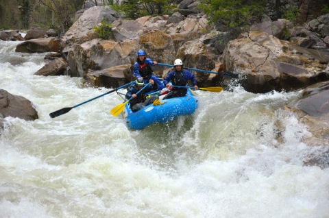 No Name Rapid, Class V, mile 10, Upper Animas River, Mountain Waters Rafting.