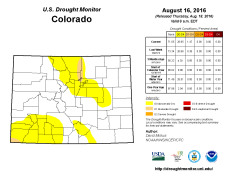 Colorado Drought Monitor August 16, 2016.