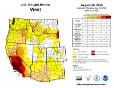 West Drought Monitor August 16, 2016.