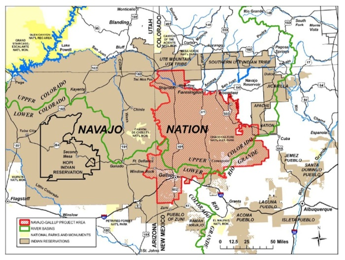 The $1 billion Navajo-Gallup water pipeline will take 12 years to build and could serve as many as 250,000 people a year by 2040, officials say. Image via Cronkite News.