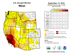 West Drought Monitor September 13, 2016.