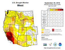 West Drought Monitor September 20, 2016.