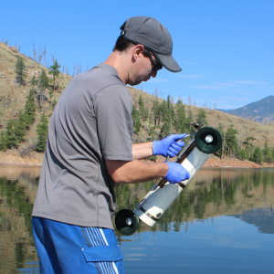 Galloway collects eDNA from Cheesman Reservoir