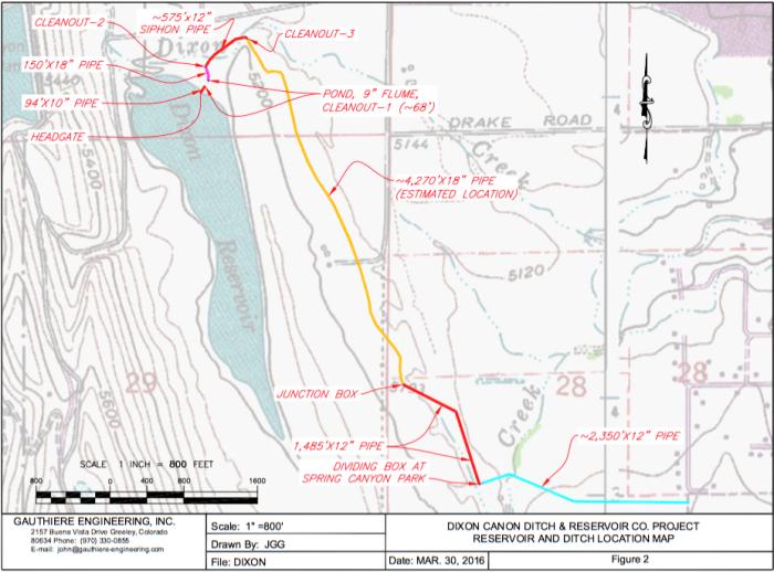 Dixon Dam rehab site map via Gauthiere Engineering.