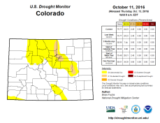 Colorado Drought Monitor October 11, 2016.