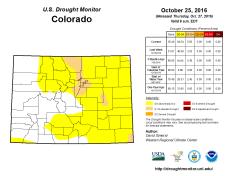 Colorado Drought Monitor October 25, 2016.