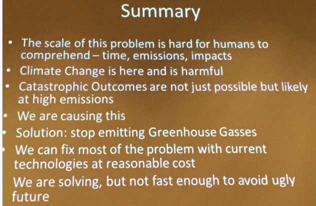 Summary slide, Brad Udall, South Platte Forum, October 27, 2016.