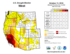 West Drought Monitor October 11, 2016.