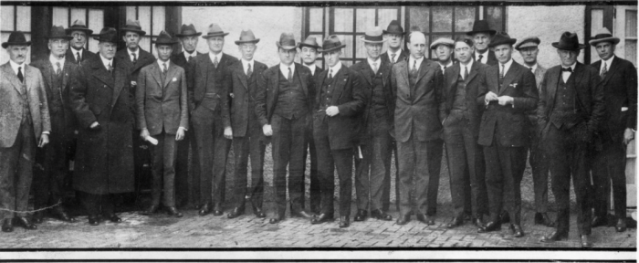 On this day in 1922, Federal and State representatives met for the Colorado River Compact Commission in Santa Fe, New Mexico. Among the attendees were Arthur P. Davis, Director of Reclamation Service, and Herbert Hoover, who at the time, was the Secretary of Commerce. Photo taken November 24, 1922. USBR photo.