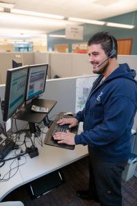 Michael Amireh, customer care representative