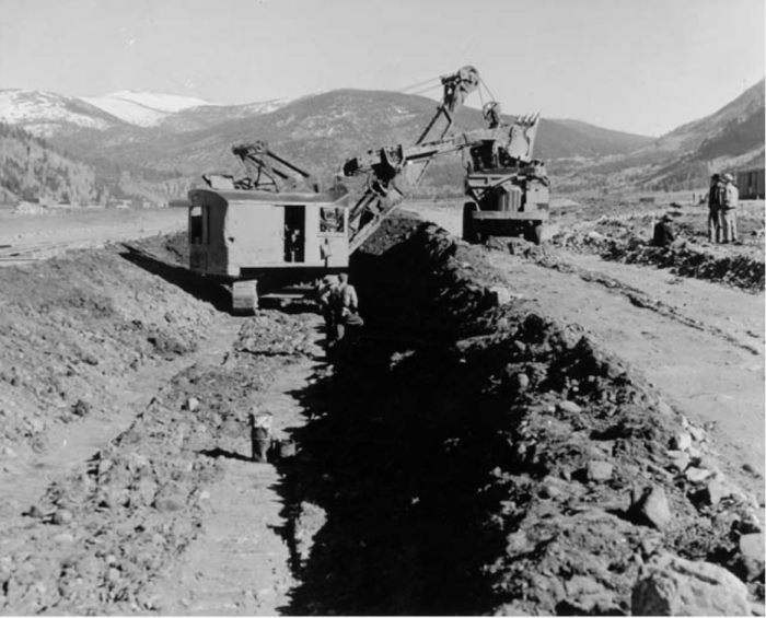 In 1942, a new channel for the Eagle River was built at Camp Hale to replacing the naturally meandering route. Photo/Denver Public Library Western History Department via The Mountain Town News.