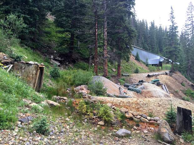 Mine waste piles at the Freda Mine pose a risk to water quality and erosion, prompting the Colorado Division of Mining, Reclamation and Safety to come in to clean up the site. Courtesy of Colorado Division of Mining, Reclamation and Safety.