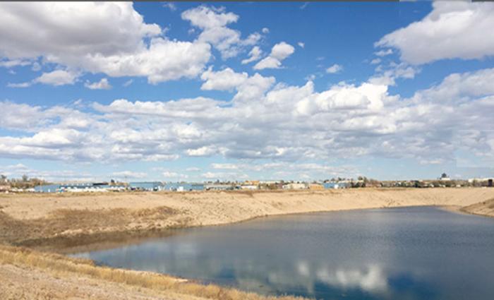 Geisert Reservoir photo via the Central Colorado Water Conservancy District.
