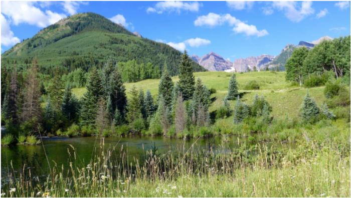 Site of proposed maroon creek reservoir via Aspen Journalism.