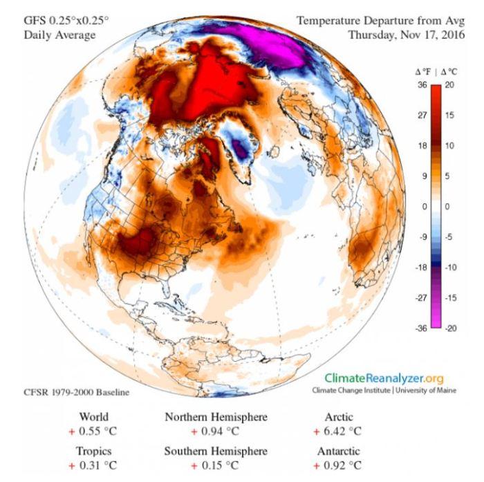 temperaturedeparturefromnormalnorthamerica11172016climatereanalyzer-org