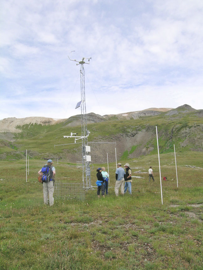 Senator Beck Basin weather stations photo credit Center for Snow & Avalanche Studies.