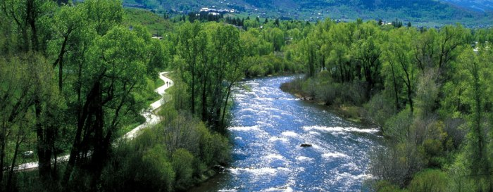 The Yampa River Core Trail runs right through downtown Steamboat. Photo credit City of Steamboat Springs.