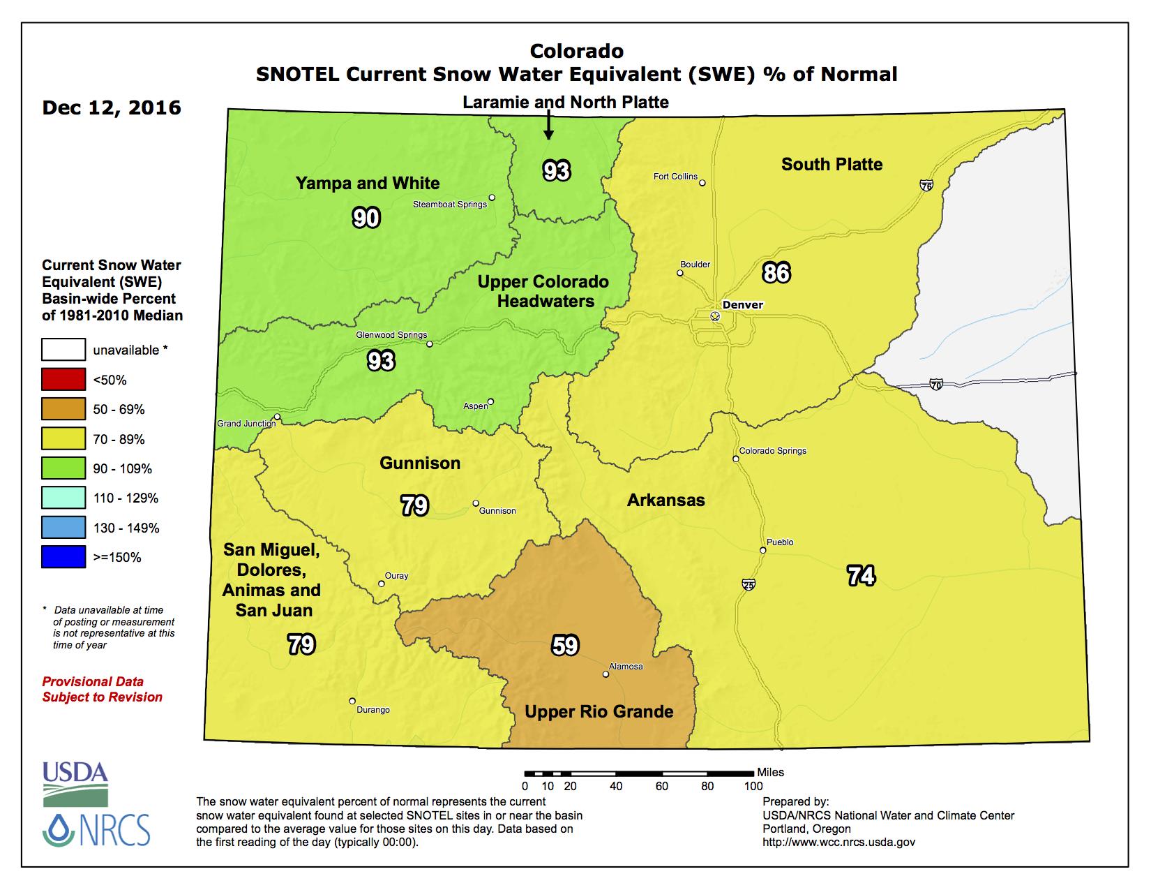 Nw Colorado Map.Snowpack News Nw Colorado And Upper Coloradoriver Basin Make It