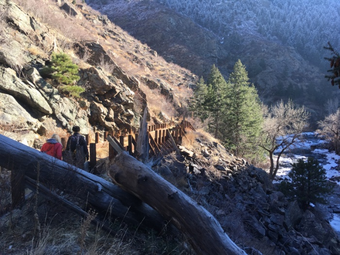 A portion of the Welch Ditch in Clear Creek Canyon. Photo credit Jefferson County Open Space via The Denver Post.