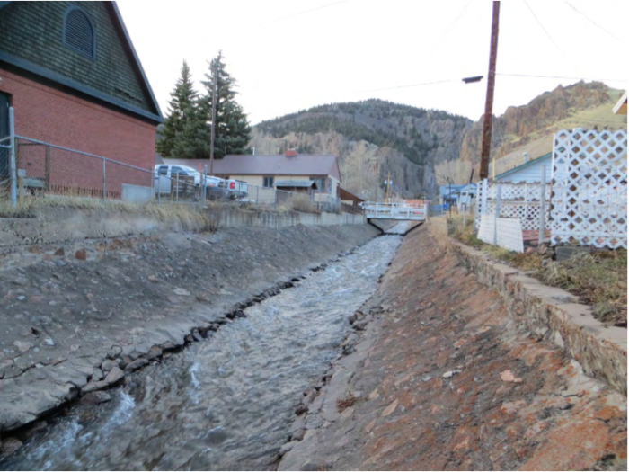 Typical Erosion along the Left and Right Toes of the Willow Creek Flume. Credit Bohannan-Huston Engineering.