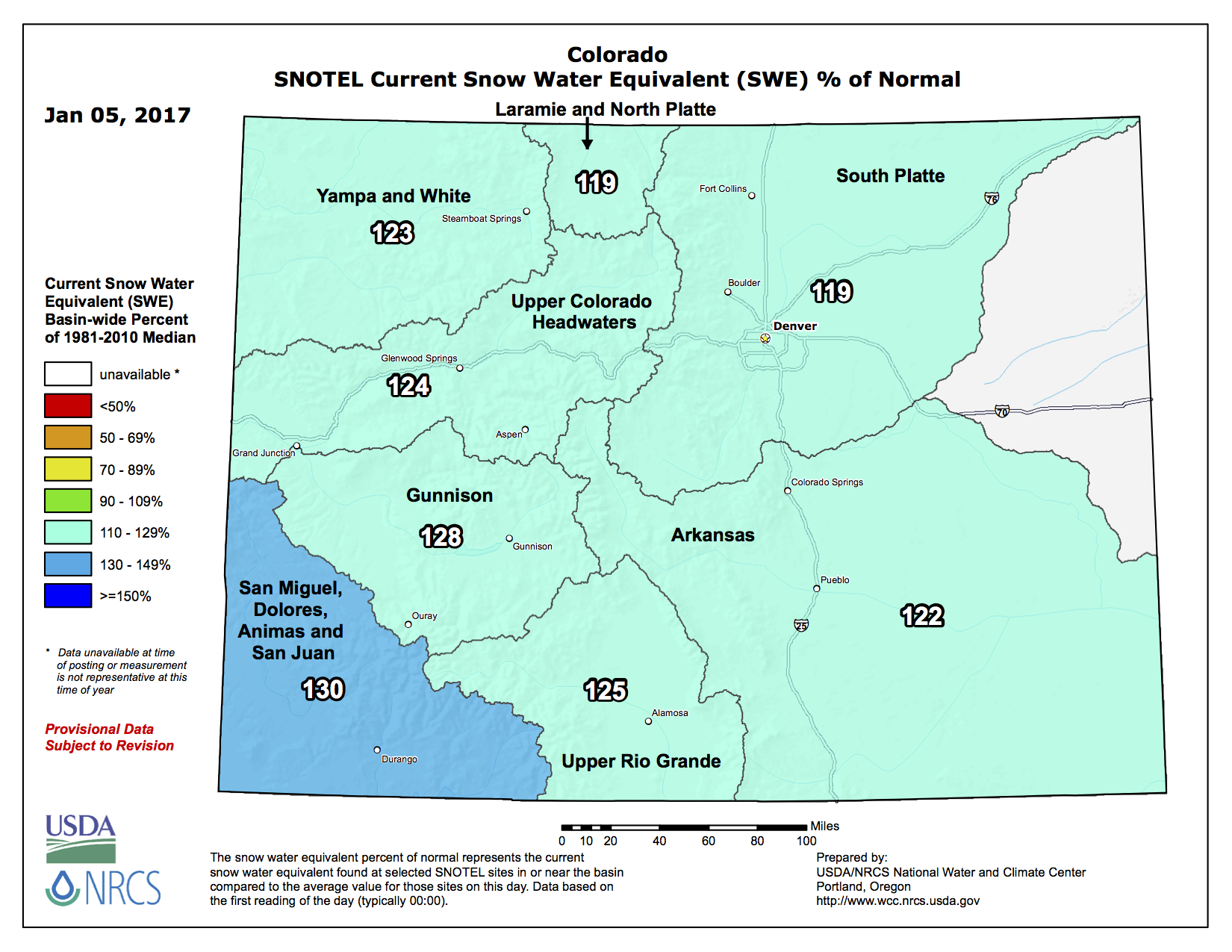 Snowpack News A Beautiful Snow For Colorado Coyote Gulch - Us snowpack map