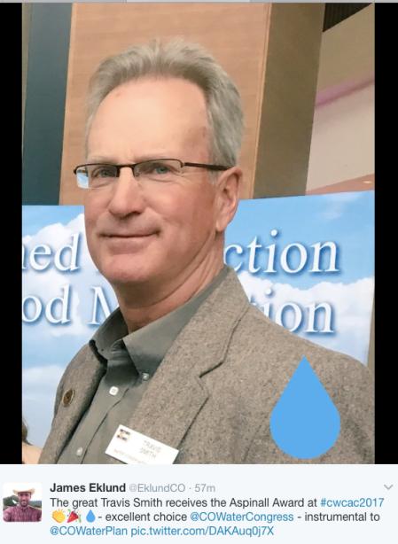 Travis Smith 2017 Colorado Water Congress Annual Convention. Photo credit James Eklund.