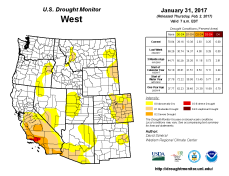 West Drought Monitor January 31, 2017.