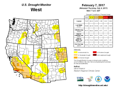 West Drought Monitor February 7, 2017.