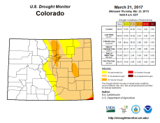 Colorado Drought Monitor March 21, 2017.