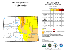 Colorado Drought Monitor March 28, 2017.