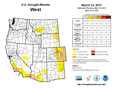 West Drought Monitor March 14, 2017.