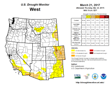 West Drought Monitor March 21, 2017.