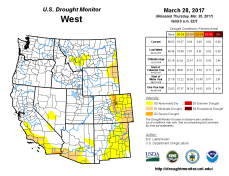 West Drought Monitor March 28, 2017.