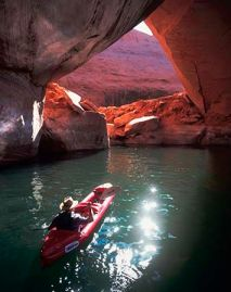 Paddling Lake Powell. Photo credit Pinterest/LakePowell