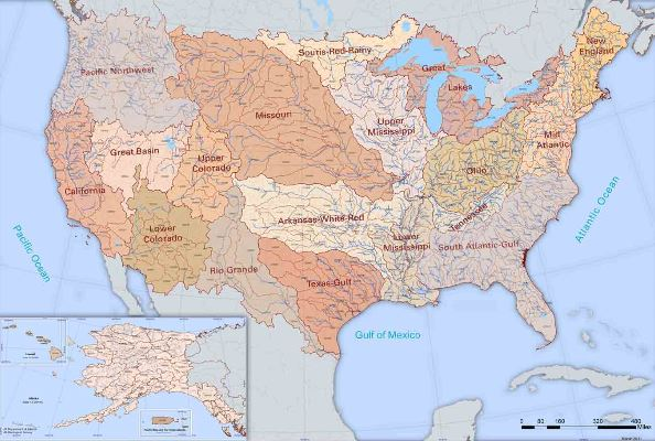 USGS: National Hydrography Dataset / Watershed Boundary Dataset Map ...