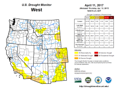 West Drought Monitor April 11, 2017.