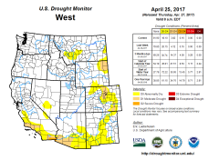 West Drought Monitor April 25, 2017.