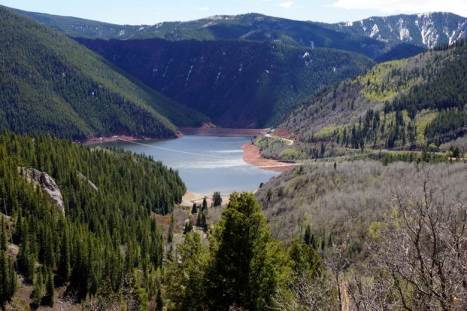 Ruedi Reservoir. Photo credit Greg Hobbs