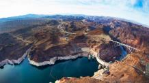 View of Lake Mead and Hoover dam. Photo credit BBC.