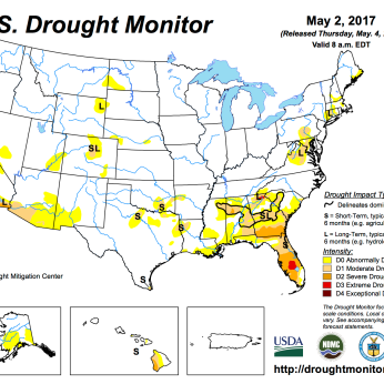 US Drought Monitor May 2, 2017.
