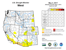 West Drought Monitor May 2, 2017.