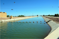 The American Canal carries water from the Colorado River to farms in California's Imperial Valley. Photo credit: Adam Dubrowa, FEMA/Wikipedia.