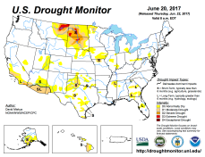 US Drought Monitor June 20, 2017.