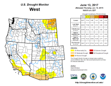 West Drought Monitor June 13, 2017.