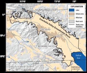 Coachella Valley. Graphic credit USGS.