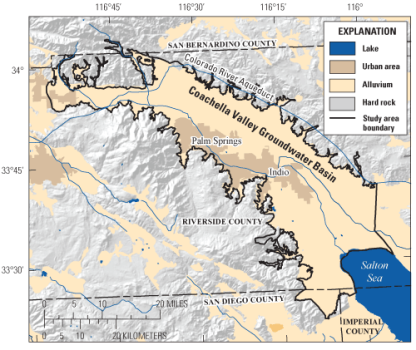 Coachella Valley. Graphic credit USGS.
