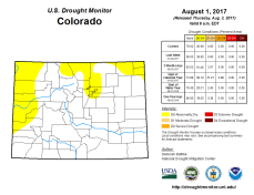 Colorado Drought Monitor August 1, 2017.